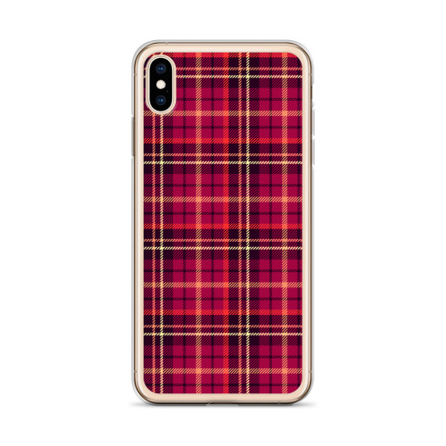 Classic Red Plaid iPhone Case for all iPhone models including 11, 11 Pro, 11 Pro Max, XR, XS Max, X, XS, 7Plus, 8Plus, 7, 8, 6Plus, 6s Plus, 6, 6s