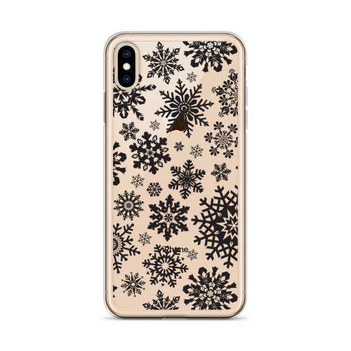Snowflake Pattern iPhone Case for all iPhone models including 11, 11 Pro, 11 Pro Max, XR, XS Max, X, XS, 7Plus, 8Plus, 7, 8, 6Plus, 6s Plus, 6, 6s