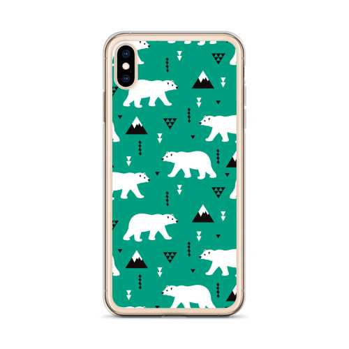 Polar Bear Pattern iPhone Case for all iPhone models including 11, 11 Pro, 11 Pro Max, XR, XS Max, X, XS, 7Plus, 8Plus, 7, 8, 6Plus, 6s Plus, 6, 6s