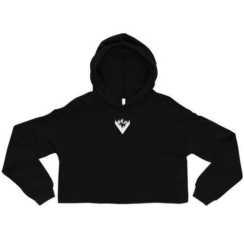 Mountain Graphic Crop Hoodie