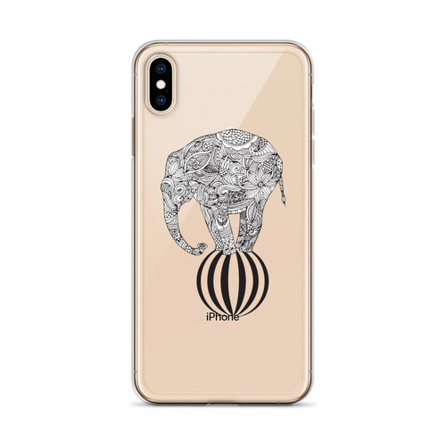 Cute Elephant Design iPhone Case for all iPhone models including 11, 11 Pro, 11 Pro Max, XR, XS Max, X, XS, 7Plus, 8Plus, 7, 8, 6Plus, 6s Plus, 6, 6s