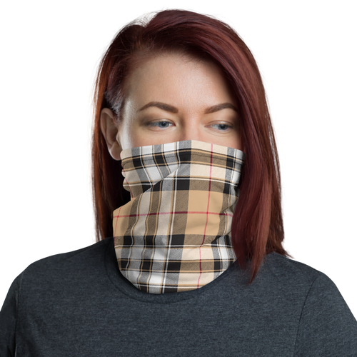 Burberry Style Plaid Pattern Neck Gaiter