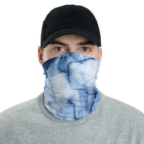 Blue Watercolor Neck Gaiter