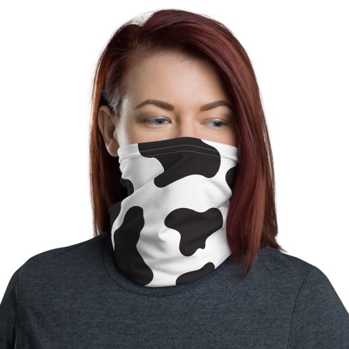 Cow Pattern Neck Gaiter