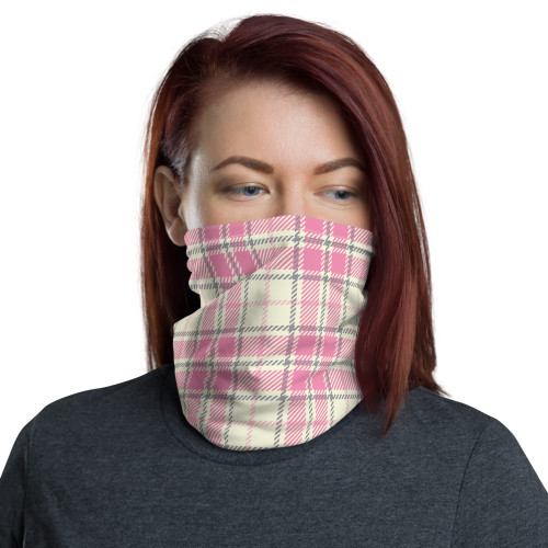 Pink Plaid Neck Gaiter