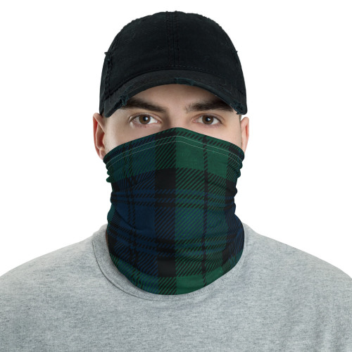 Green Plaid Neck Gaiter