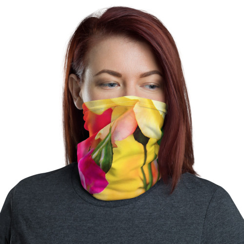 Beautiful Roses Neck Gaiter by Cases by Kate and CBK Company