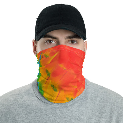 Parrot Feathers Neck Gaiter by Cases by Kate and CBK Company