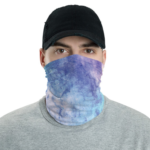 Blue, Purple and Green Tie Dye Neck Gaiter by Cases by Kate and CBK Company
