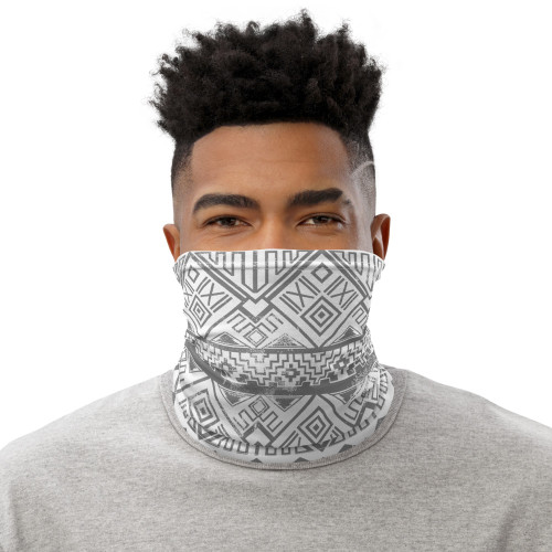 Faded Aztec Pattern Neck Gaiter