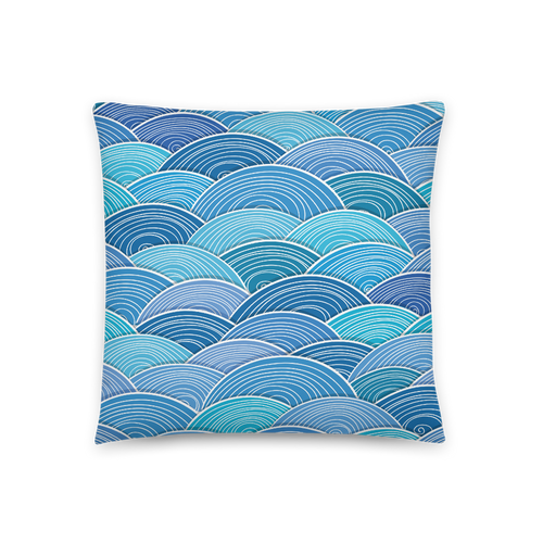 Blue Wave Square Pillow
