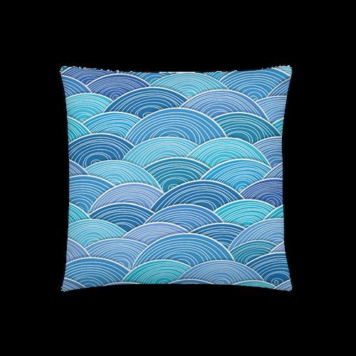 Blue Wave Square Pillow