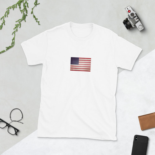 US Flag Short-Sleeve Unisex Cotton T-Shirt
