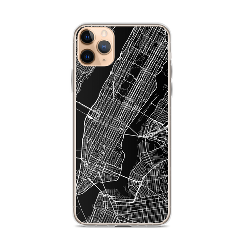 New York City Map iPhone Case for all iPhone models including 11, 11 Pro, 11 Pro Max, XR, XS Max, X, XS, 7Plus, 8Plus, 7, 8, 6Plus, 6s Plus, 6, 6s, SE