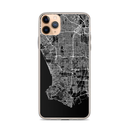 Los Angeles City Map iPhone Case for all iPhone models including 11, 11 Pro, 11 Pro Max, XR, XS Max, X, XS, 7Plus, 8Plus, 7, 8, 6Plus, 6s Plus, 6, 6s, SE