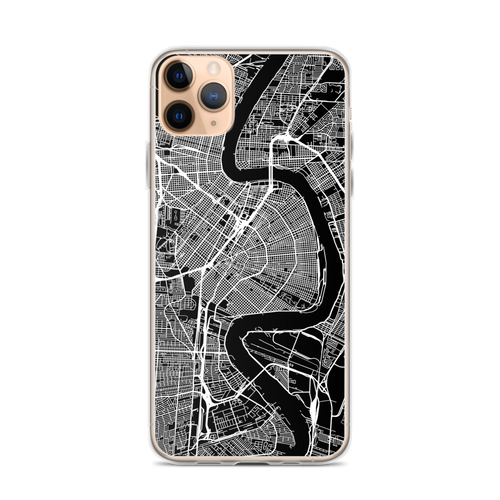 New Orleans City Map iPhone Case for all iPhone models including 11, 11 Pro, 11 Pro Max, XR, XS Max, X, XS, 7Plus, 8Plus, 7, 8, 6Plus, 6s Plus, 6, 6s, SE