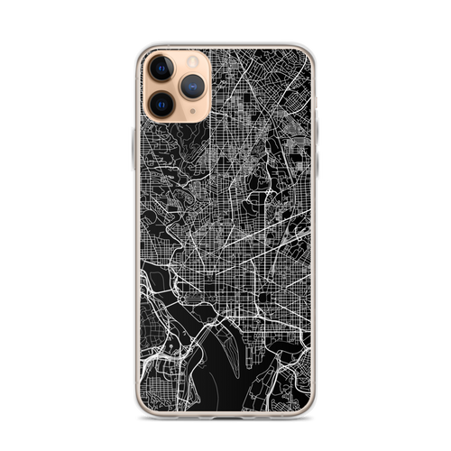 Washington DC City Map iPhone Case for all iPhone models including 11, 11 Pro, 11 Pro Max, XR, XS Max, X, XS, 7Plus, 8Plus, 7, 8, 6Plus, 6s Plus, 6, 6s, SE