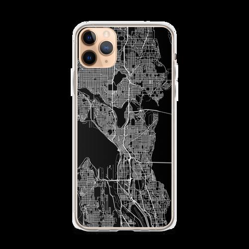 Seattle City Map iPhone Case for all iPhone models including 11, 11 Pro, 11 Pro Max, XR, XS Max, X, XS, 7Plus, 8Plus, 7, 8, 6Plus, 6s Plus, 6, 6s, SE