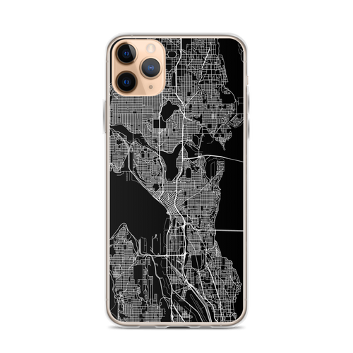 Seattle City Map iPhone Case for all iPhone models including 11, 11 Pro, 11 Pro Max, XR, XS Max, X, XS, 7Plus, 8Plus, 7, 8, 6Plus, 6s Plus, 6, 6s, SE