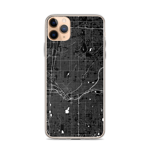 Denver City Map iPhone Case for all iPhone models including 11, 11 Pro, 11 Pro Max, XR, XS Max, X, XS, 7Plus, 8Plus, 7, 8, 6Plus, 6s Plus, 6, 6s, SE