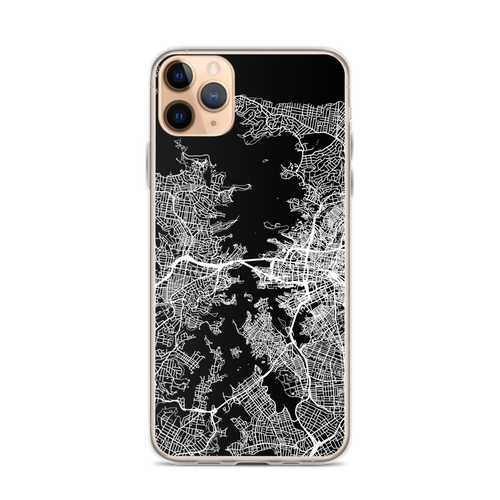 Sydney City Map iPhone Case for all iPhone models including 11, 11 Pro, 11 Pro Max, XR, XS Max, X, XS, 7Plus, 8Plus, 7, 8, 6Plus, 6s Plus, 6, 6s, SE