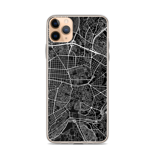 Madrid City Map iPhone Case for all iPhone models including 11, 11 Pro, 11 Pro Max, XR, XS Max, X, XS, 7Plus, 8Plus, 7, 8, 6Plus, 6s Plus, 6, 6s, SE