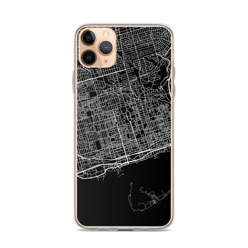 Toronto City Map iPhone Case for all iPhone models including 11, 11 Pro, 11 Pro Max, XR, XS Max, X, XS, 7Plus, 8Plus, 7, 8, 6Plus, 6s Plus, 6, 6s, SE