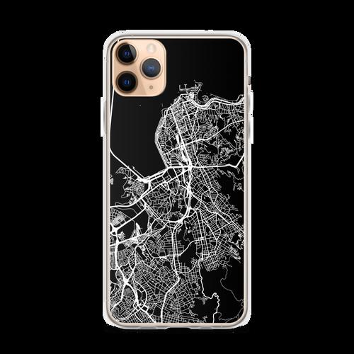 Rio de Janeiro City Map iPhone Case for all iPhone models including 11, 11 Pro, 11 Pro Max, XR, XS Max, X, XS, 7Plus, 8Plus, 7, 8, 6Plus, 6s Plus, 6, 6s, SE
