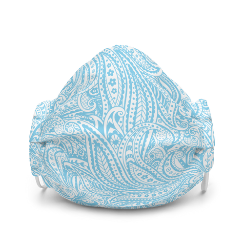 Pretty Blue Paisley Face mask