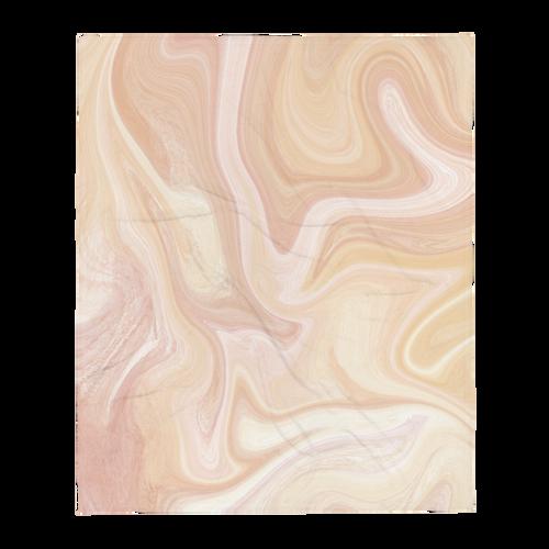 Golden Marble Throw Blanket
