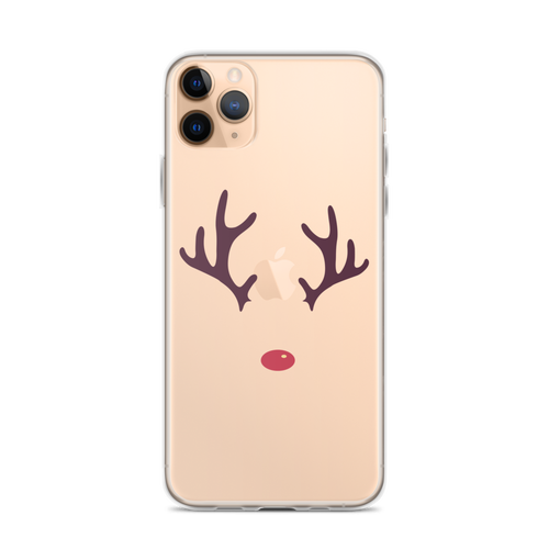 Cute Reindeer iPhone Case for iPhone models including 12, 12 Mini, 12 Pro, 12 Pro Max, 11, 11 Pro, 11 Pro Max, XR, XS Max, X/XS, 7Plus/8Plus, 7/8 and SE