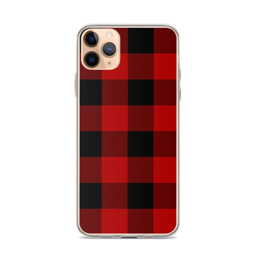 Red and Black Lumberjack Plaid iPhone Case