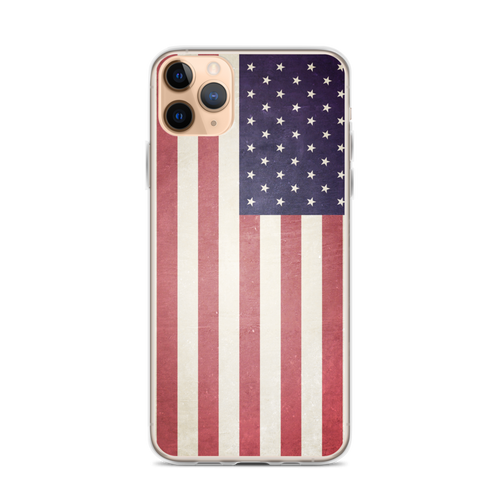 US American Flag iPhone Case for iPhone models including 12, 12 Mini, 12 Pro, 12 Pro Max, 11, 11 Pro, 11 Pro Max, XR, XS Max, X/XS, 7Plus/8Plus, 7/8 and SE