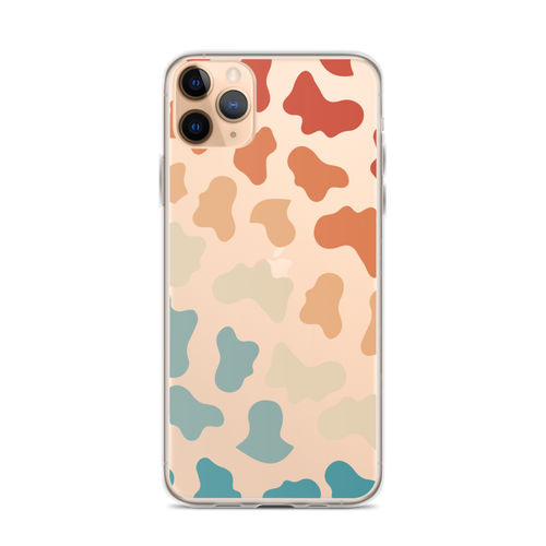 Retro Rainbow Cow Print Pattern iPhone Case for iPhone models including 12, 12 Mini, 12 Pro, 12 Pro Max, 11, 11 Pro, 11 Pro Max, XR, XS Max, X/XS, 7Plus/8Plus, 7/8 and SE