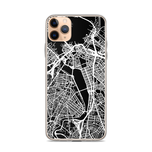 City Map Boston iPhone Case for iPhone models including 12, 12 Mini, 12 Pro, 12 Pro Max, 11, 11 Pro, 11 Pro Max, XR, XS Max, X/XS, 7Plus/8Plus, 7/8 and SE