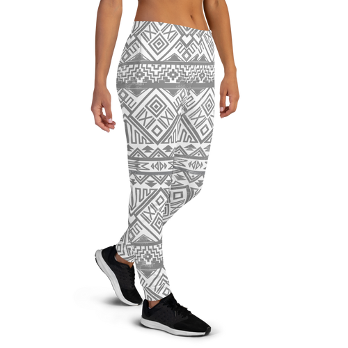 Grey Aztec Cotton Sweatpants by CBK Company