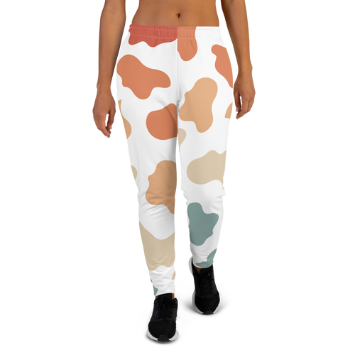 Retro Rainbow Cow Pattern Women's Joggers