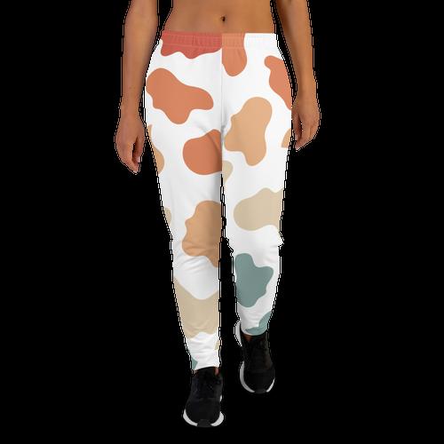 Retro Rainbow Cow Pattern Women's Joggers