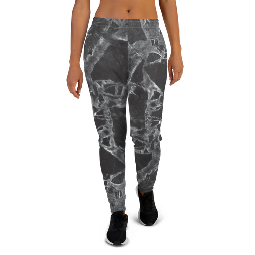 Black Marble Women's Joggers