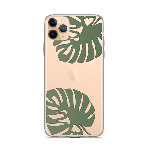 Exotic Monstera Leaves iPhone Case for iPhone models including 12, 12 Mini, 12 Pro, 12 Pro Max, 11, 11 Pro, 11 Pro Max, XR, XS Max, X/XS, 7Plus/8Plus, 7/8 and SE
