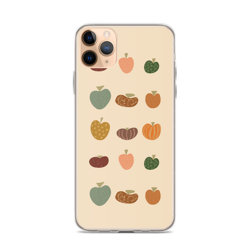 Fall Pumpkin Pattern iPhone Case for iPhone models including 12, 12 Mini, 12 Pro, 12 Pro Max, 11, 11 Pro, 11 Pro Max, XR, XS Max, X/XS, 7Plus/8Plus, 7/8 and SE