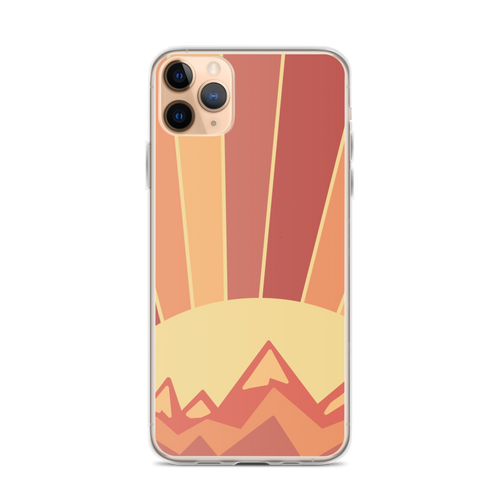 Golden Sunset iPhone Case for iPhone models including 12, 12 Mini, 12 Pro, 12 Pro Max, 11, 11 Pro, 11 Pro Max, XR, XS Max, X/XS, 7Plus/8Plus, 7/8 and SE