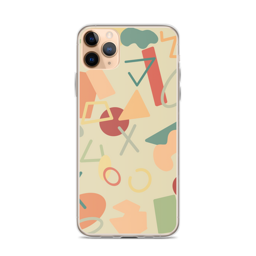 90s Retro Geometric Pattern iPhone Case for iPhone models including 12, 12 Mini, 12 Pro, 12 Pro Max, 11, 11 Pro, 11 Pro Max, XR, XS Max, X/XS, 7Plus/8Plus, 7/8 and SE