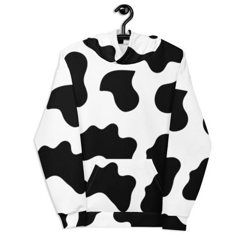 Cow Hide Pattern Unisex Hoodie