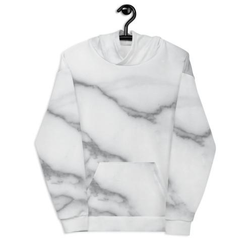 Grey Marble Unisex Hoodie