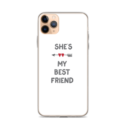 She's My Best Friend Arrow Hearts iPhone Case (Right Side)