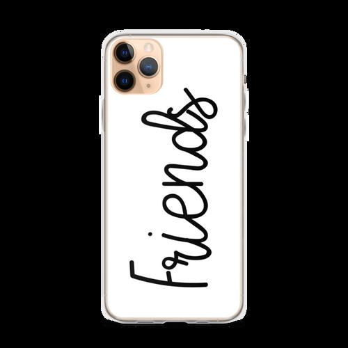 Best Friends Cute Script iPhone Case (Friends Side)