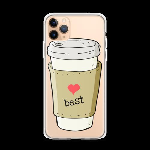 Best Friends Coffee & Donuts iPhone Case (Best side)