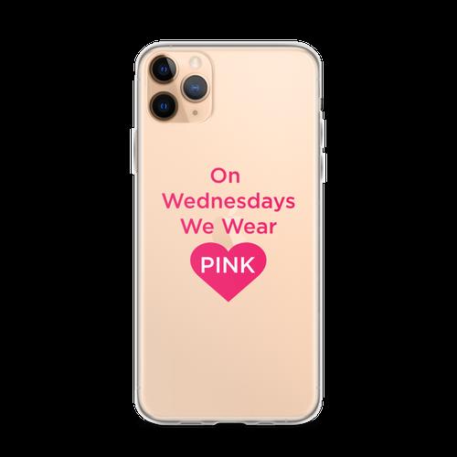 On Wednesdays We Wear Pink Heart iPhone Case