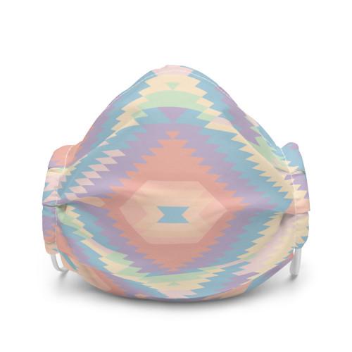 Pastel Rainbow Aztec Face Mask